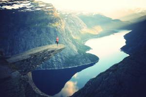 Yoga - Rocks mountains by Julia Caesar